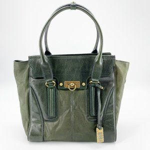 Frye Dana Tote Medium Green Italian Leather Bag